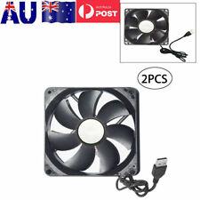 2pcs 120mm USB 5V Case Computer PC CPU Cooler Cooling Fan Highspeed Silent Black