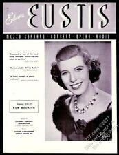 1941 Edwina Eustis photo opera singing recital tour trade booking ad