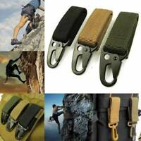 Tactical Nylon Key Hook Webbing Buckle Hanging Belt Carabiner Clip With Keyring