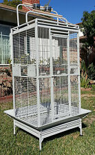 NEW Large Wrought Iron Open Play Top W/Double Ladders Parrot Macaw Bird Cage-368
