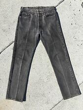 Vintage Levi's 501 Gray Faded Black Jeans 31 X 32 USA Made Redone Mom LVC Hairy