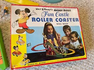 Mickey Mouse Fun Castle Roller Coaster Toy Vintage