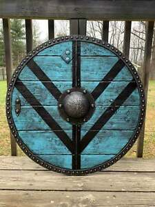 Legartha Shieldmaiden Viking Shield Viking wooden shield 24 '' shield replica