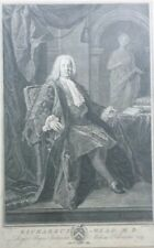 Bernard Baron (1696-1762) 1749 engraving of Richardus Mead  MD
