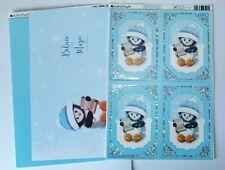 Kanban Christmas Cute Penguin Die Cut Foiled Toppers,Card, Insert Kit 54375