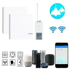 Wireless WIFI Smart Lamp Light Wall 2x Switches Home 1 Way 1x Remote APP Control