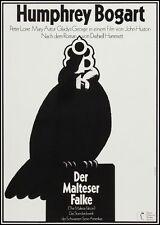 MALTESE FALCON German A1 movie poster R72 BOGART HUSTON HANS HILLMANN Art LINEN