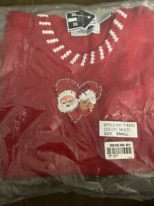 Storybook Knits Women S Santa Mrs Claus Ugly Christmas Sleeveless Sweater Sequin