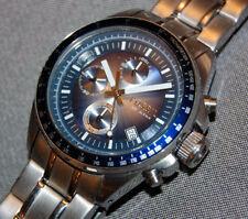 RARE! Fossil Decker Chronograph Blue Dial Watch PR5386 NEW BATTERY!