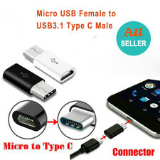 Micro USB Female to USB 3.1 Type-C Male Converter USB-C Data Cable OTG Adapter