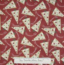 Christmas Tree Glitz Fabric - Treee & Ornament Toss on Red - AE Nathan YARD