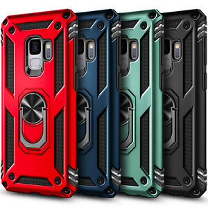 For Samsung Galaxy S9/S9 Plus Case Ring Stand Phone Cover with Screen Protector