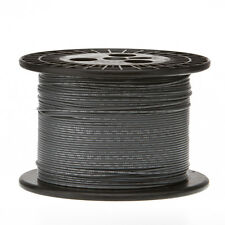 "14 AWG Gauge Stranded Hook Up Wire Gray 250 ft 0.0641"" UL1007 300 Volts"