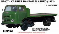 B-T Models N007 Karrier Bantam Flatbed Green 1/148th Scale N Gauge New Boxed T48