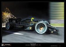 Ayrton Senna Lotus Renault Turbo 97T Limited Edition F1 Art Print Large A2 Size