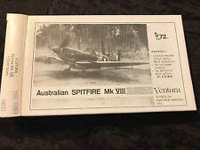 "VENTURA 1/72 ""AUSTRALIAN"" SPITFIRE MK.VIII -- W/METAL PARTS & VACFORM CANOPIES !"