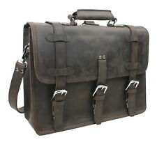 "Vagarant Traveler 17"" MacBook Pro Bag  Full Leather Briefcase Backpack LB06.DS"