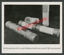 Olympiade Urkunden-Rollen Leder Kunsthandwerk Design Sportgeschichte Berlin 1936