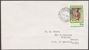 ANTIGUA 1981 50c Picasso on cover to USA - St Johns cds.....................T127
