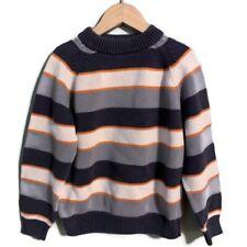 Gymboree Boys Sweater Size Small 5 Gray Orange  Striped Fall 62
