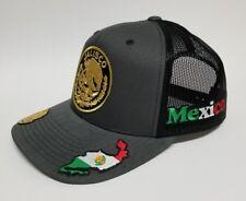 JALISCO   MEXICO  HAT MESH TRUCKER  DARK GREY  SNAP BACK ADJUSTABLE  NEW