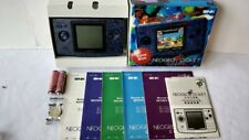 Excellent SNK NEOGEO POCKET Color Stone Blue Console Boxed NEO GEO set-a629-