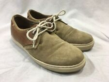 Steve Madden Suede Leather Shoe Men 10 P Gavell Lace Up Beige Brown Tan Sneaker