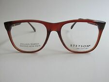 STETSON 47 Zyloware 029 Brown Square Rare Vintage Eyeglasses  Made in France