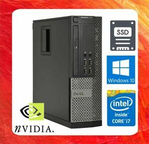 DELL PC OPTIPLEX 9010 INTEL CORE I7 3.4GHZ 8GB 240GB SSD DVDRW NVIDIA HDMI WIN10