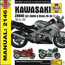 Kawasaki ZX600 ZZR600 ZX6 Ninja 1990-2006 Haynes Manual 2146 NEW