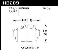 Hawk Disc Brake Pad Front for Porsche Boxster, Cayman / HB289G.610