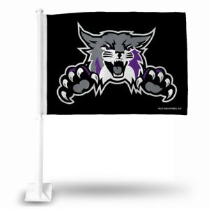 Weber State Wildcats Licensed 11X14 Window Mount 2-Sided Car Flag