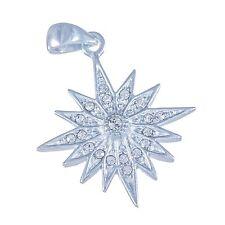 Christmas star silver 925 zircons pendant of star of Bethlehm blessed cross gift