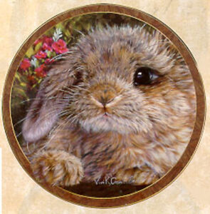 Bunny Tales Collection, by Vivi Crandall, Bradford Exchange Plate, Munchkins