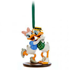 DISNEY STORE DONALD & DAISY MR. DUCK STEPS OUT 2014 Sketchbook Ornament NIB