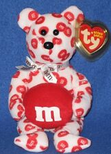 TY RED the M&M's  BEAR BEANIE BABY (WALGREEN'S EXCLUSIVE) - MINT with MINT TAG