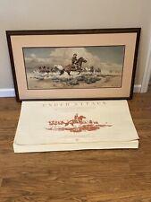 John Wayne Under Attack Frank C. McCarthy Print Framed Signed Numbered No Glass