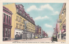 ST. THOMAS , Ontario , Canada , 30-40s ; Business Section & Grand Central Hotel