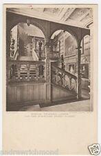 Temple Newsam Leeds Oak Staircase Vintage Postcard 057b