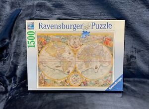Ravensburger World Map 1594 1500 Pieces Jigsaw Puzzle Softclick Brand NEW Sealed