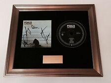 PERSONALLY SIGNED/AUTOGRAPHED FOALS - WHAT WENT DOWN FRAMED CD PRESENTATION.