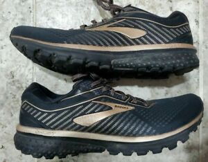 SWEET Brooks Ghost 12 Running Shoes Women's Size US10.5B Black/Metallic Gold