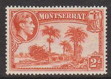 (LX85) 1938 MONTESERAT 2d orange KGVI