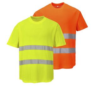 Portwest C394 Mesh T-Shirt High Visibility Workwear - Various Colours