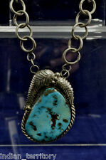 Navajo Indian Turquoise Necklace and Earrings Set by Marie Begay