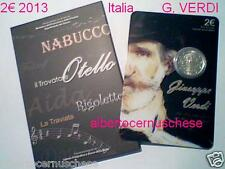 folder 2 euro 2013 ITALIA 200 anni nascita Giuseppe VERDI Italie Italy Italien