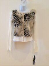 NWT XOXO Cream Furry Acrylic Blend Ladies Sweater  Size Medium