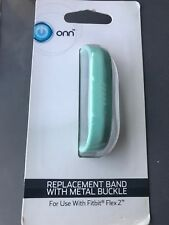 ONN Fitbit Flex 2 Mint Replacement Band with Metal Buckle ONC16WA009 New