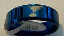 St. Louis Blues Blue titanium Ring sizes 6-13 #bl1