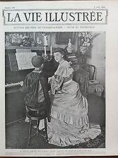 LA VIE ILLUSTREE 1904 N 303  Mme GUIONIE, DONNANT UNE LECON DE PIANO A SON FILS